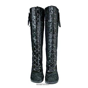 Vintage Style Victorian Lace Up Bridal Boho Chic Romantic Women's Boots