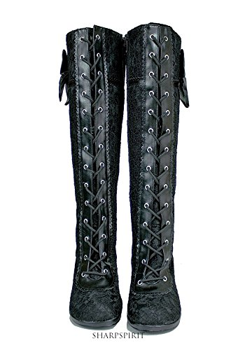 Vintage Style Victorian Lace Up Bridal Boho Chic Romantic Women's Boots 2