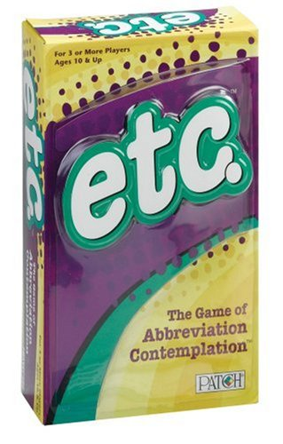 etc. - The Game of Abbreviation Contemplation