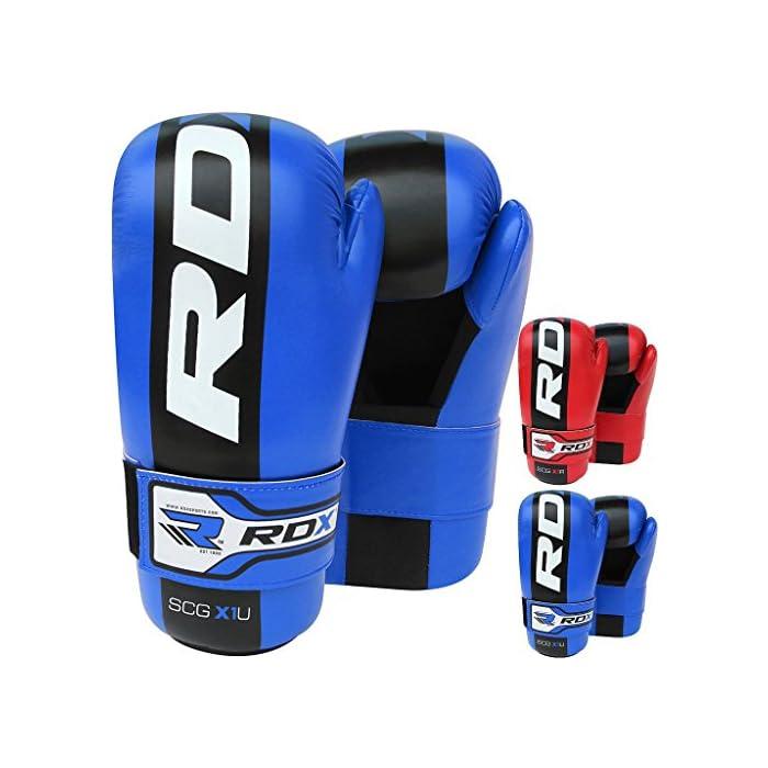 RDX Bambini Pelle Sintetico MMA Guantoni Grappling Sparring Guanti UFC Combattimento Sacco Allenamento: prezzi, offerte vendita online