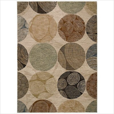 Modernworks Biometric Beige Contemporary Rug Size: 5'5