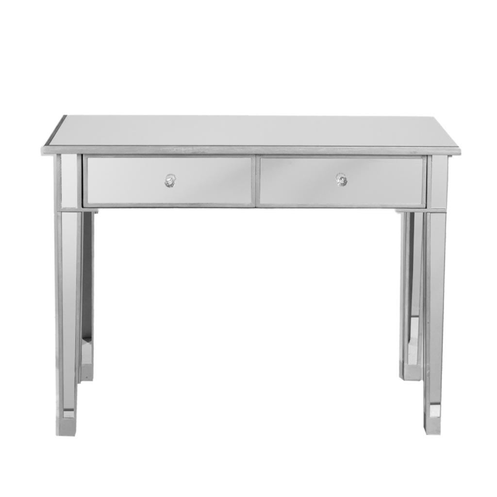Sei mirage mirrored 2 drawer console table for Mirror table