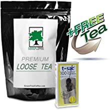 T-Sac size 1 Tea Filter Bags -100 count box with FREE Breakfast Blend Loose Black Tea - 4 oz