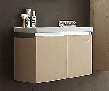 Waschtischunterschrank mit Keramikwaschtisch sand Prato us234