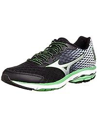 Mizuno Running Shoes Wave Rider 18 Black / Silver / Green J1gc150303