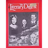 Charles Lindbergh, Amelia Earhart & Admiral Byrd August 19 1933 Literary Digest Magazine Matted 11 X 14