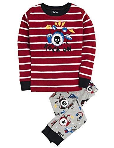 Hatley Little Boys' Pajama Set Applique -Rock Band, Multi, 8