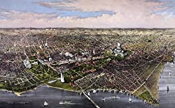 City of Washington Aerial View - Currier & Ives Lithograph, 1880 - 16x20-inch - Fine-Art-Quality Photographic Print of an Image from the Library of Congress Collection