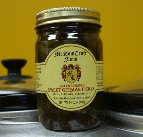 MeadowCroft Farm Old Fashioned Sweet German Pickles - 14-day barrel-aged pickle-