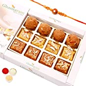 Rakhi Gifts Sweets- North Indian Mix In White Box