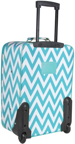 teal 20 inch rolling suitcase
