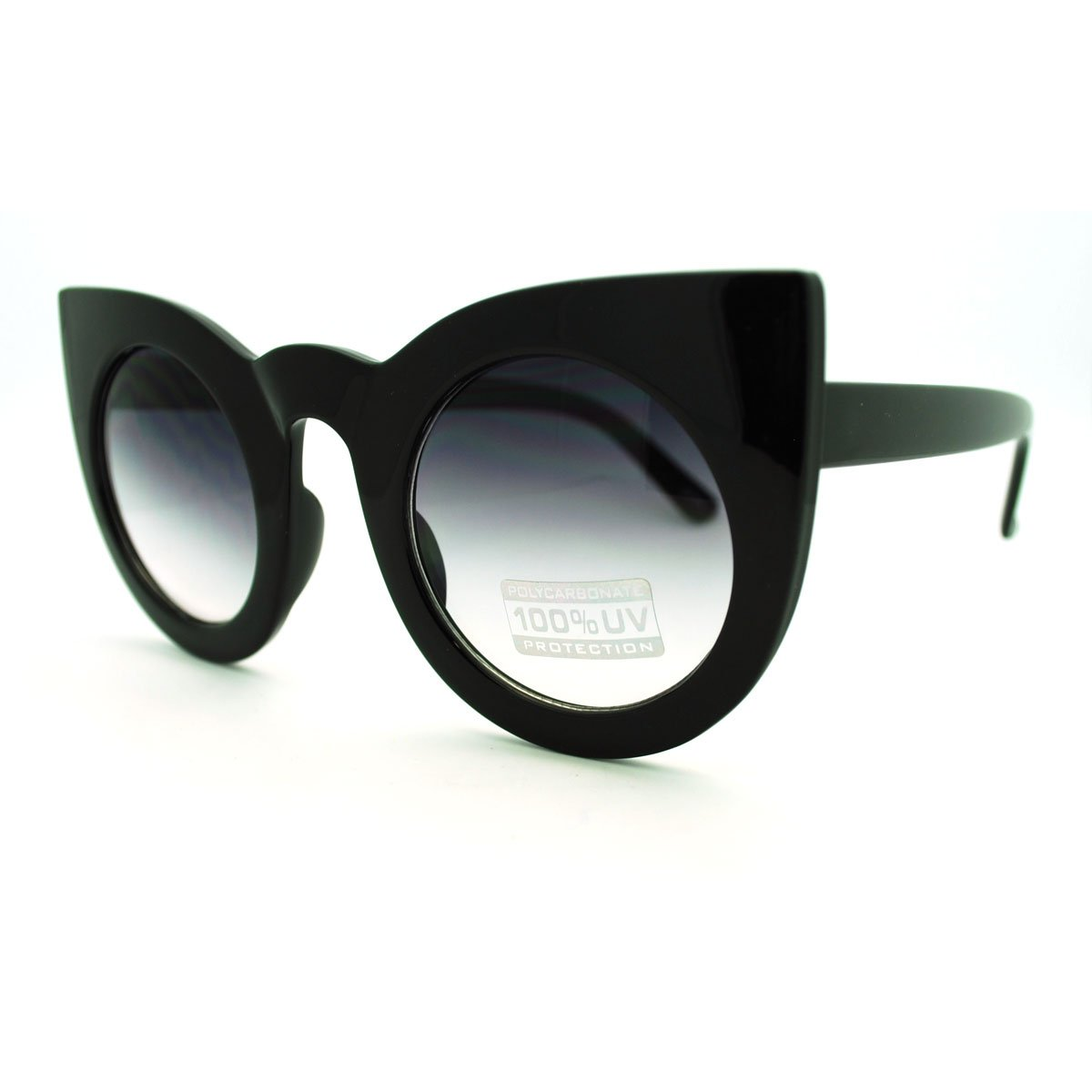 Oversized Round Cateye Sunglasses Womens Vintage Retro Eyewear 2
