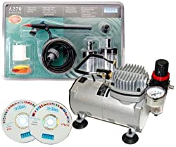 AZTEK A270 Airbrush Set A2705 ABD TC-20 Compressor