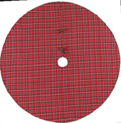 Christmas Tree Skirt Red Plaid Home Garden Decor