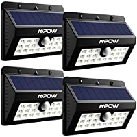4-Pack Mpow 20 LED Solar Outdoor Motion Lights