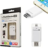 I Flash Drive Device U Disk With Extra USB Memory Storage For IPhone IPad Apple IPhone 5/iPhone 5S/iPhone 5C/iPad...