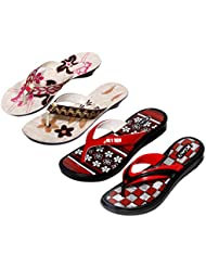 Krocs Super Comfortable Combo Pack Of 2 Pair Flip Flop With 2 Pair Slippers For Women (Pack Of 4 Pair) - B01JS6TV24