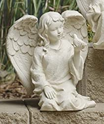 Inspirational Cherub Angel and Bird Outdoor Garden Figure 7.5""