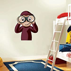 Curious george wall decal room decor 18 x 25 other for Curious george wall mural