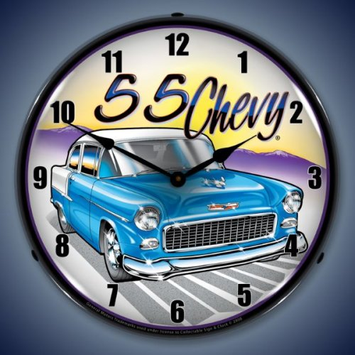 55 Chevy Quality Lighted Wall Clock