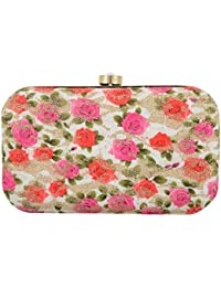 Tooba Women's Clutch (Magenta, Rani Printed Foam Rose 6x4)