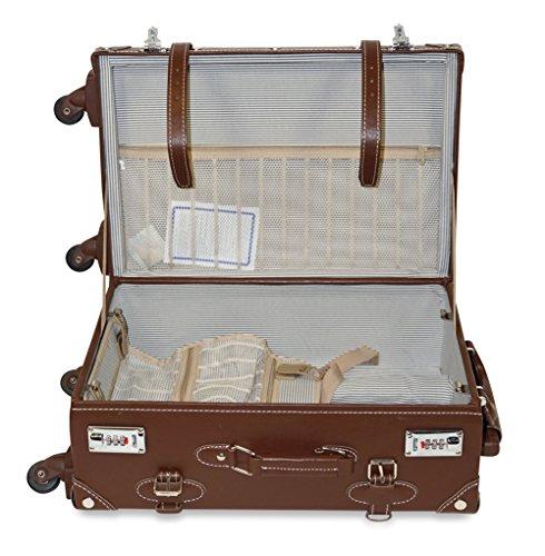 Vintage Trunk Antique Hardside Luggage Suitcase Set of 2 1