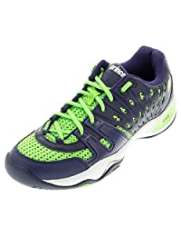 Men`s T22 Tennis Shoes Navy and Lime