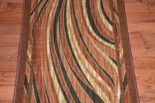 Dean Flooring Company Dean Washable Carpet Rug Runner Jazzy Terra Cotta P