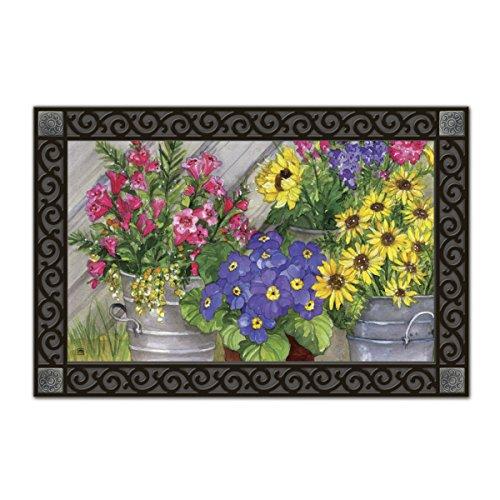 Blossom Buckets Doormat By Matmates Shopswell