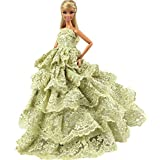 Princess Evening Wedding Party Clothes Wears Dress Outfit Gown For Barbie Doll