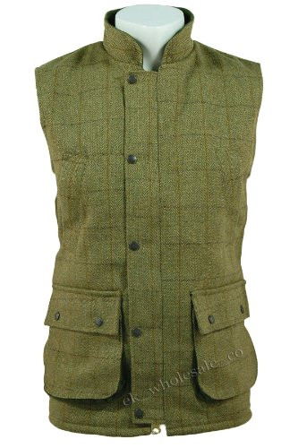 D35 Mens Light Derby Tweed Waistcoat Bodywarmer Gilet