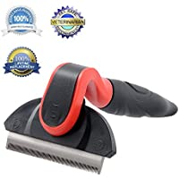 Pet Deshedding Tool & Grooming Brush Remover For Dogs Cats With Long Or Short Hair Reduces Shedding In Minutes...