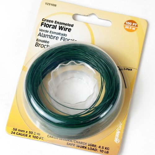 Hillman Fasteners 123108 Floral Wire Green 100' - 24 Gauge