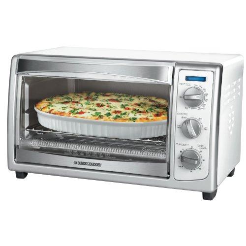 Black Amp Decker Slice Toaster Oven White 050875805507