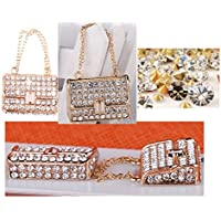 Pink White Rhinestone Buckle New Christmas Gift Bag Keychain Keychain Keychain Bag Pendant Diamond Suit