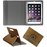 Acm Designer Rotating 360° Leather Flip Case For Apple Ipad Air 1 Tablet Stand Premium Cover Golden