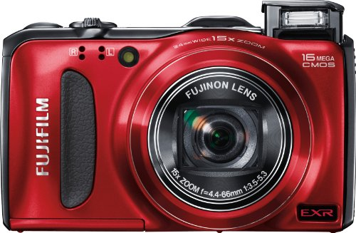 Fujifilm FinePix F550EXR 16 MP CMOS Sensor Digital Camera with 15x Optical Zoom (Red)