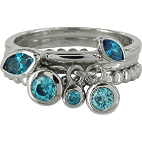 Stack Ring Co SRSTK0002L - Anillo de mujer de plata de ley con circonitas anillo mujer barato woman cheap ring