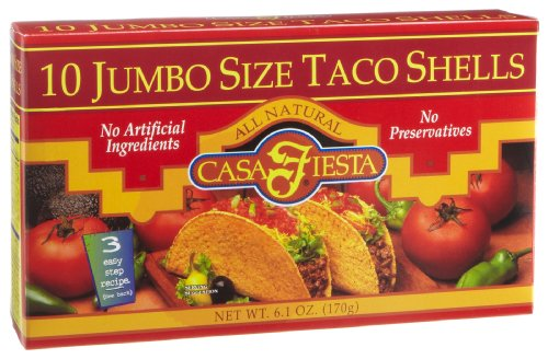 Casa Fiesta Taco Casa Fiesta Jumbo Shells 6.1-Ounce Packages (Pack of 12)
