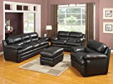 New 3Pc CONTEMPORARY MODERN LEATHER SOFA SET #AC-TAYLOR