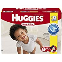 172 Count Huggies Snug & Dry Diapers - Size 5 (One Month Supply)