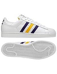 Adidas Superstar II Men`s Sneakers - Running White / Purple / Yellow