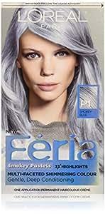 Amazon  L39Oreal Paris Hair Color Feria Pastels Dye Smokey Blue P1
