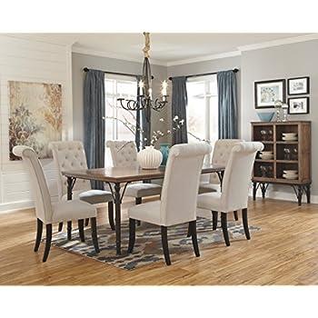 Ashley Furniture Signature Design - Tripton Dining Room Side Chair Set - Upholstered - Vintage Casual - Set of 2 - Linen