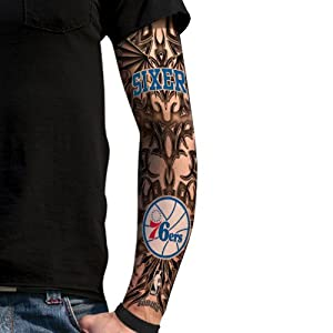 Nba philadelphia 76ers light undertone tattoo for Philly sports tattoo