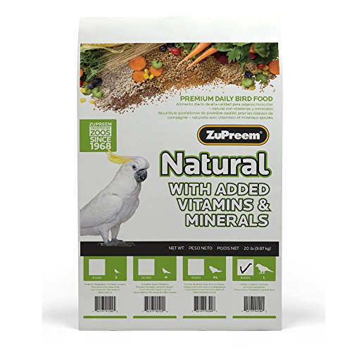 ZUPREEM 230358 230358 230358 Natural Large Bird Food, 20-Pound c33e5a