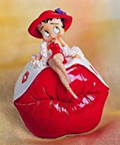 Sexy Betty Boop in Fishnet Stockings Sitting on Giant Lips Trinket Box