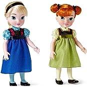 "Disney Store Frozen Anna & Elsa Toddler Doll Set 15"" Toy Age 3+"