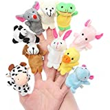 ANIMAL FINGER PUPPETS (SET OF 10)-9CM EACH PUPPET