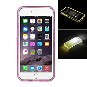 Crazy4Gadget ENKAY TPU + Plastic Frame Combination Case with Call LED Lighting Flashing for iPhone 6 Plus (Light Purple)